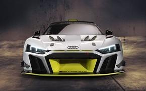 Picture Audi, lights, sports car, Audi R8, GT2, LMS