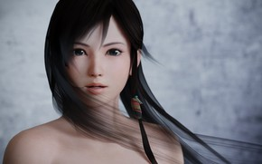 Picture girl, Asian, 3D graphics