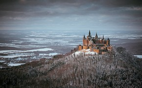 Picture winter, castle, mountain