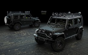 Picture design, transport, SUV, car, Jeep Wrangler Supercharged