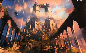 Wallpaper castle, tower, architecture, spiregardens, Magic - The Gathering