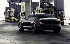 Picture machine, auto, black, Volvo, Volvo, Hybrid, hybrid, Volvo Polestar 1
