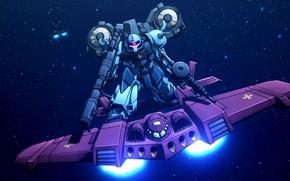 Picture weapons, gun, robots, the plane, Mobile Suit Gundam