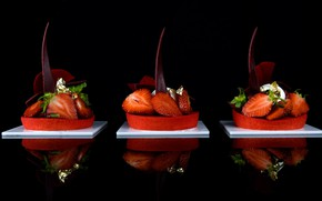 Picture design, berries, chocolate, strawberry, cake
