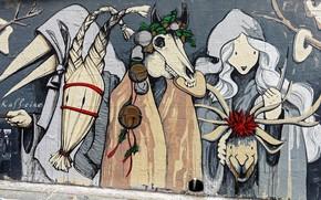 Picture wall, graffiti, art