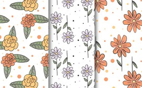 Picture style, Flowers, patterns, TEXTURE, FLOWERS, drawn, hand, collection
