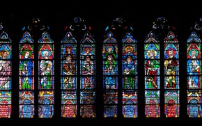 Picture colors, saints, decoration, church, forms, stained glass