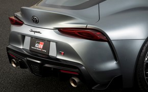 Picture grey, coupe, Toyota, Supra, the rear part, the fifth generation, feed, mk5, double, 2019, GR …