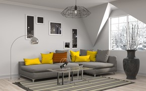Picture design, sofa, interior, living room, decor