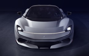 Picture supercar, front view, hypercar, Pininfarina, 2019, The baptist