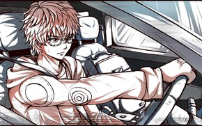 Picture glasses, guy, 707, Mystic Messenger