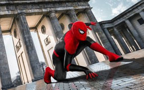 Picture The sky, Trees, Street, Italy, Costume, Venice, The film, Movie, Spider-man Return home, Tiles, Spider-man …