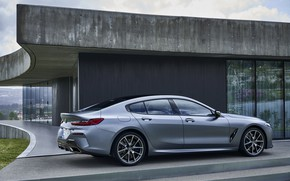 Picture coupe, BMW, profile, Gran Coupe, the house, 8-Series, 2019, the four-door coupe, Eight, G16