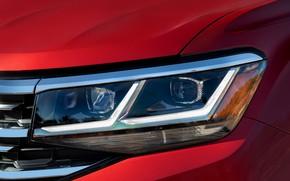 Picture red, headlight, Volkswagen, SUV, Atlas, 2020
