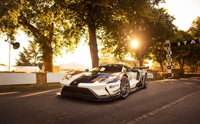 Picture the sun, Ford, Trees, Ford GT, sports car, Mk II