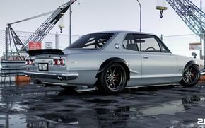 Picture Machine, Grey, Nissan, GT-R, 2000, Skyline, Nissan Skyline, Rendering, 2000 GT-R, Nissan Skyline 2000 GT-R, …