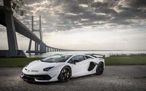 Picture bridge, Lamborghini, supercar, Aventador, Lisbon, SVJ, 2019, Aventador SVJ