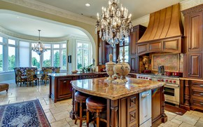 Picture interior, kitchen, Texas, dining room, Baldridge House Fort Worth