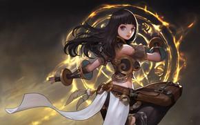 Picture magic, anime, art, choi keun hoon, A magic woman
