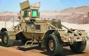 Picture vehicle-mounted mine detection, VMMD, Husky Mk III