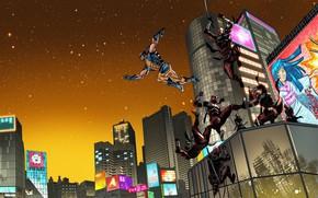 Picture Stars, Japan, Hand, Costume, Building, Japan, Hero, Ninja, Wolverine, Logan, Comic, Swords, Superhero, Hero, Stars, …