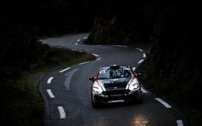 Picture road, dark, rally, 2018, Abarth, 124 Rally