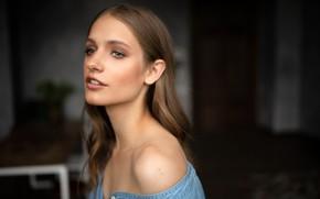 Picture model, portrait, makeup, hairstyle, brown hair, bokeh, Lisa, Ivan Proskurin