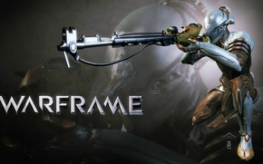 Picture weapons, being, silhouette, soldiers, trunk, gun, armor, cyborg, sight, character, Warframe