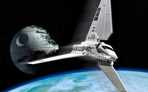 """Picture Star Wars, Endor, The Death Star 2, The Shuttle T-4a type """"Lambda"""", battle station, The …"""