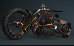 Picture design, transport, tuning, motorcycle, steampunk bike