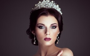 Picture girl, style, portrait, crown, makeup, Oleg Gekman