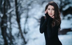 Picture look, girl, pose, figure, beautiful, bokeh, Nurettin Yildirim, Gaye Karaca