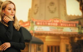 Picture actress, blonde, blonde, margot robbie, Margot Robbie, once upon a time in hollywood, Sharon Tate, …
