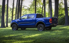 Picture blue, Ford, side view, pickup, Ranger, 2019, FX2 Package