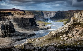 Picture river, canyon, Iceland, Jökulsárgljúfur canyon