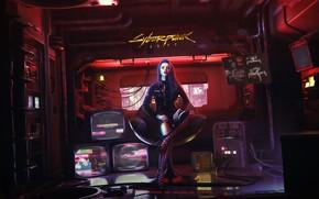 Picture Girl, The game, Style, Fantasy, Art, Art, Fiction, Cyborg, Illustration, Cyborg, Cyberpunk 2077, Characters, Cyberpunk, …