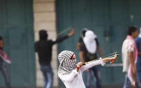Picture shawl, hijab, girl, the opposition, slingshot