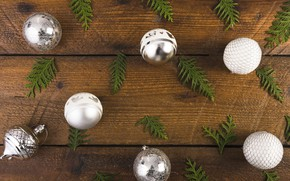 Picture decoration, balls, New Year, Christmas, Christmas, balls, wood, New Year, decoration, Merry, fir tree, fir-tree …