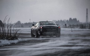 Picture snow, the wind, coupe, 2018, Jaguar XKR, V8, Speedback, two-door, David Brown Automotive, Silverstone Edition