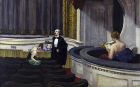 Picture Edward Hopper, 1927, Two on the Aisle