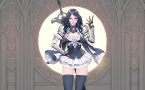 Picture Girl, Fantasy, Beautiful, Sexy, Art, Style, Minimalism, Characters, Figure, Templar, Bageumi