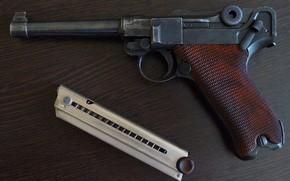 Picture gun, weapons, Parabellum, Luger