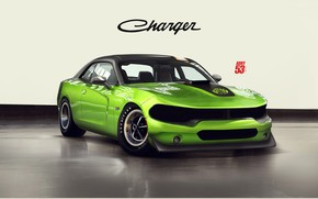 Picture Car, Style, Green, Dodge Charger, Machine, Transport & Vehicles, Auto, Rendering, Charger, Dodge, by Timothy …