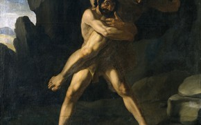 Picture Francisco de Zurbaran, 1634, Cycle of Hercules, The struggle of Hercules with Antaeus