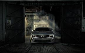 Wallpaper Chevrolet, Machine, Gate, Camaro, Lights, ZL1, Icon, Grille
