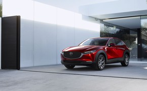 Picture photo, Red, Mazda, Car, Crossover, Worldwide, 2019, CX-30
