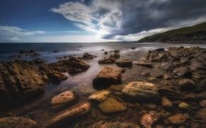 Picture stones, coast, Ireland