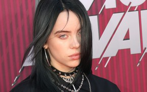 Picture decoration, brunette, singer, singer, Billie Eilish, Billy Iles