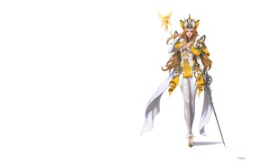 Picture fantasy, weapons, elf, art, costume design, who sweat, Elf knight