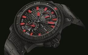 Picture time, arrows, watch, background black, watch, Ulysse Nardin, chronometer, Ulysses Nardan